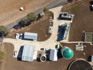 aerial view of gunnedah stp